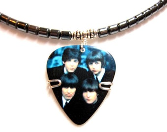 Beatles Guitar Pick Necklace