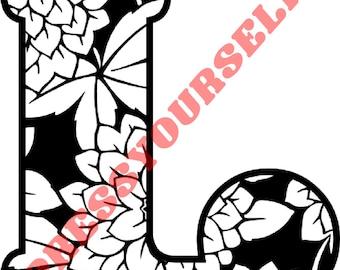 SVG, Dahlia's Dream digital cut file...SVG and PNG