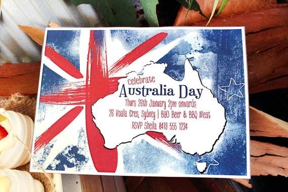 Australia day invitation instant download editable printable il570xn stopboris Gallery