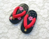 Small Child's Japanese Zori (thong sandal), Hello Kitty, small, unused, for wearing or decorating