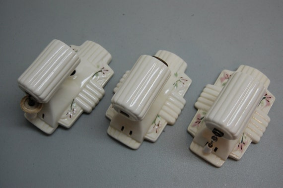 Items similar to Vintage Porcelain wall sconce light ... on Wall Sconce Replacement Parts id=66875
