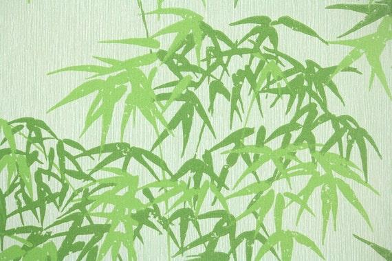 Yard 70s Vin...1970s Wallpaper Green Leaves