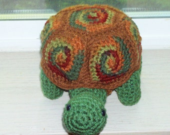 Amigurumi Turtle Doll - Autumn Leaves -Turtle With Removable Shell