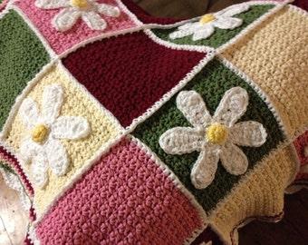 Handmade Crochet Baby Blanket - 100% Cotton