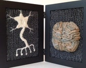 Neurological Study in Wool - Dark Grey Background