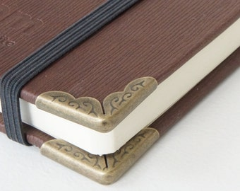 20 Large Vintage Antique Bronze Metal Book Corners - Purse Corners - Bag DIY
