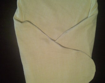 Yellow Flannel Swaddle Blanket