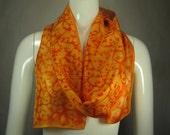 "Orioles orange scarf, 8""x70"""
