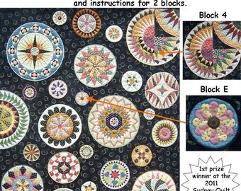 Lots of Dots BOM - Month 3. Patterns and instructions for two blocks as pictured.