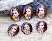 Oval Charm Apply Young Girl Handmade photo glass cabochon dome bead 10x14mm13x18mm 18x25mm 30x40mm For Earring Brooch Ring Necklace Bracelet