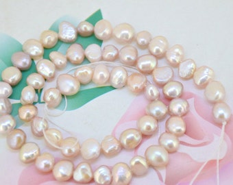 Loose Flat Lavender Pearl Strand Natural freshwater cultured pearl bead Round Seed Pearl Gemstone Bead Whosale Pearls Strand Full One Strand
