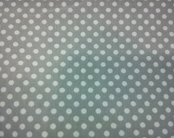 Small off-white polka dots, pale gray, 1/2 yard, pure cotton fabric