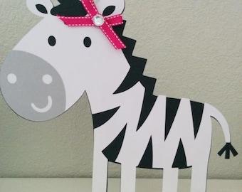 Zebra Centerpiece Stand, Zebra party decorations