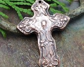 Artisan Copper PMC Cross Pendant