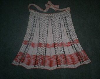 SALE  Vintage Sm-Med Crocheted  Apron. WAS 24.00.