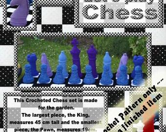 PDF Crochet Pattern Garden Sized Chess Set