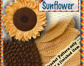 PDF Crochet Pattern Sunflower Head