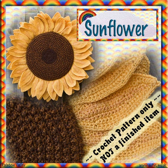 PDF Crochet Pattern Sunflower Head