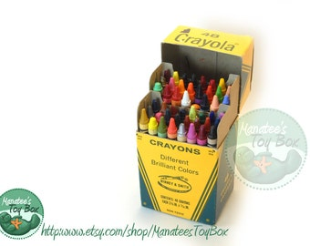 Vintage Crayola Crayons Box of 48 Includes Retired Colors