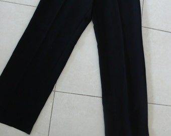 Unworn vintage black wide leg trousers by Caractere usa 8, uk 12, eu 42