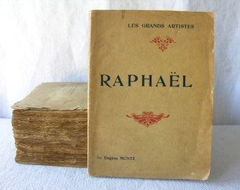 RAPHAËL French Antique Book  - french Book   - French Painter - French painter book