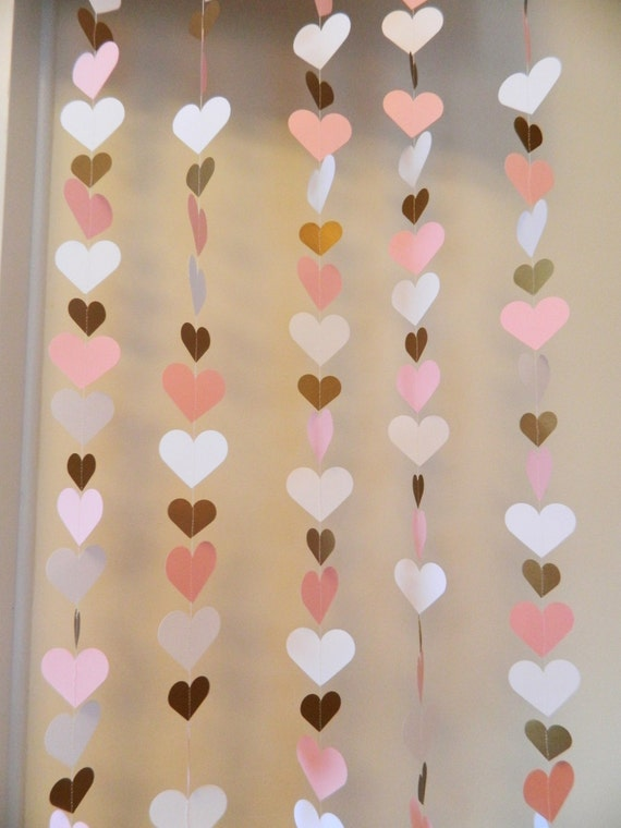color backdrop 1st birthday heart backdrop pink and gold heart curtain