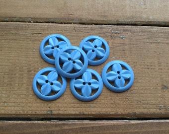1940,s Vintage Blue Buttons-(j38)