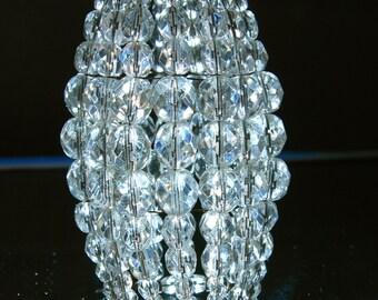 Petite Antiqued Bronze Beaded Light Bulb Cover, Chandelier Shade, Sconce Shade, Candelabra Lighting, Lamp Shade, Shabby Chic Lighting