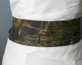 Camo Sash, Camouflage, Mossy Oak, Real Tree Bridal Sash, Prom Sash, Wedding Sash Bridal Sash