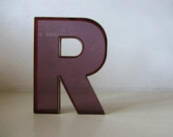 Industrial Vintage Letter R