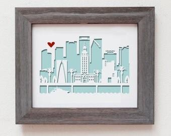 Miami, Florida - Personalized Gift or Wedding Gift