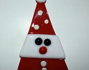Santa Glass Ornament