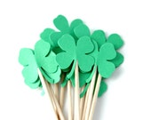 St. Patrick's Day, Four Leaf Clover, Cupcake Toppers, School Party, 4-H Meetings, Food Picks, Cake Topper