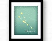 Taurus Constellation - Taurus Zodiac Art - April Birthday May Birthday - Star decor - Star print - graphic print