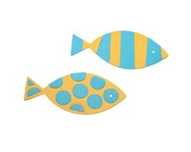 Fish Die Cuts Set Of 4 2 In You Choose Your Colors