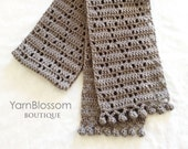 CROCHET PATTERN The Dancing Diamond Scarf (Instant Download)