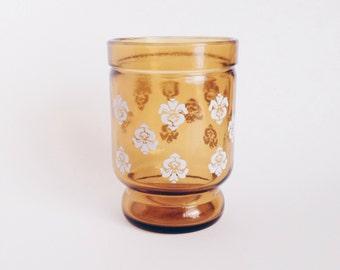 Vintage Flower Glass