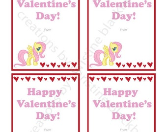 My Little Pony Printable Valentine's Day Cards - INSTANT DOWNLOAD