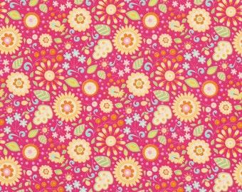 25172  Dena Designs Little Azalea Petunia PWDF173 Pink - 1 yard