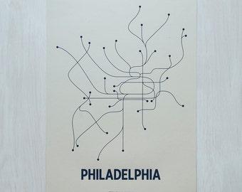 Philadelphia Screen Print - Old Green/Navy