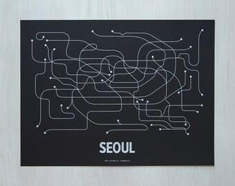 Seoul Screen Print - Black/White