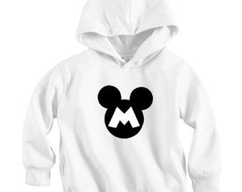 Mickey Letter - Long sleeve Hoodie Shirt (Baby / Infant / Toddler / Children's)