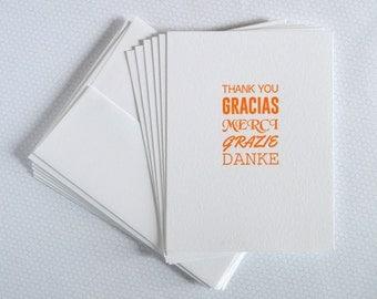 Thank You Notecard Set : Letterpress