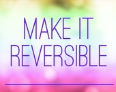 Make it Reversible - for high waisted suits