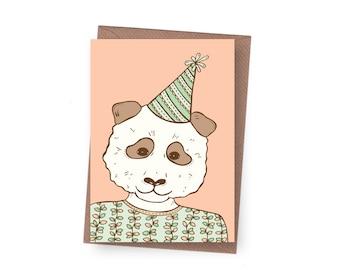 SALE Party Panda Birthday Card