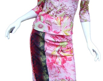 CHRISTIAN LACROIX 2-Piece Top & Long Skirt SzEU 40