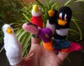 animal finger puppets set of 5
