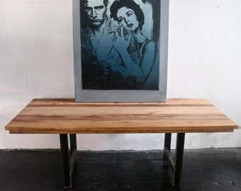 Beautiful Industrial Table. Dining   Conference   made in Los Angeles.