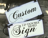 CUSTOM - Double Sided - 12in - Wedding and photo props, Ring Bearer Sign