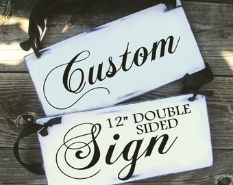 CUSTOM - Double Sided - Wedding and photo props, Ring Bearer Sign